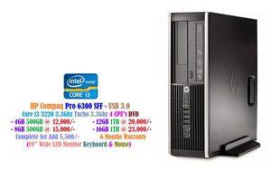 HP Compaq Pro 6300 SFF - USB 3.0 Core i3 3220 3.3Ghz 4 CPU's DVD • 4GB 500GB at 12,000/- • 8GB 500GB at 15,000/- • 12GB 1TB at 20,000/- _