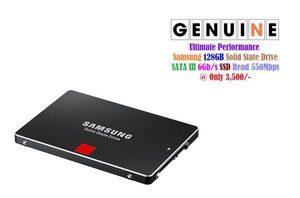 "Micron SanDisk Samsung Intel SATA 2.5"" SSD 6Gb/s Read 550Mbps • 128GB at 3,500/- • 180GB at 4,500/- • 256GB at 8,000/- • 512GB at 11,000/- • 800GB at 13,000/- _"