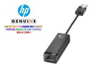 New HP USB 3.0 to Gigabit RJ45 Adapter N7P47AA