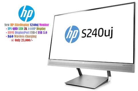 "HP EliteDisplay S240uj Monitor • 24"" IPS QHD LED 2K 1440P Display"