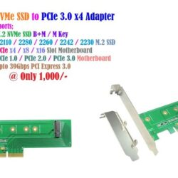 M.2 NVMe SSD to PCIe 3.0 x4 Adapter